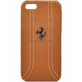 Чехол Ferrari для iPhone 5/5S FF-Collection Hard Camel