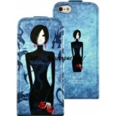 Чехол City Girls для iPhone 5/5S Flip Leather Blue