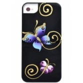 Чехол накладка iCover iPhone 5/5S Butterfly Black