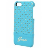 Чехол накладка Guess для iPhone 5/5S GIANINA Hard Turquoise