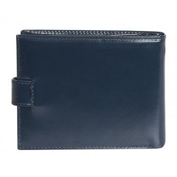 кошелёк мужской из натуральной кожи (синий)
