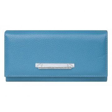 кошелёк женский из натуральной кожи (голубой)