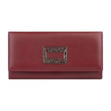Женский кошелёк из натуральной кожи красный купить в спб