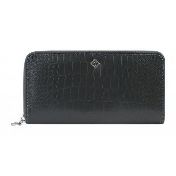 Женский кожаный кошелёк на молнии под рептилию купить в спб