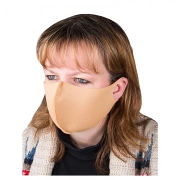 маска для лица из неопрена бежевая