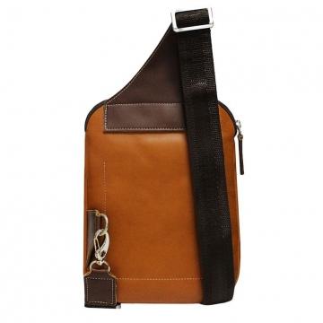 сумка мужская нагрудная из натуральной кожи
