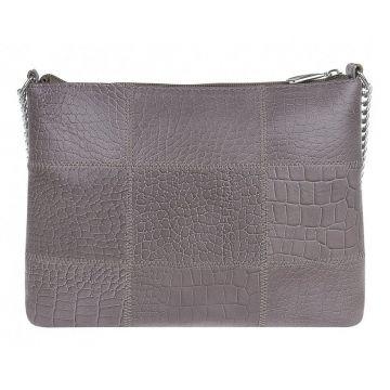 сумка женская кожаная на цепочке (капучино)