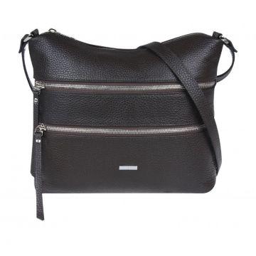 сумка женская из натуральной кожи (коричневая)