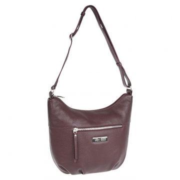 сумка женская из натуральной кожи (вишня)