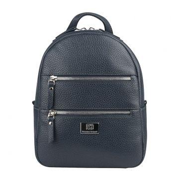 рюкзак женский из натуральной кожи (синий)