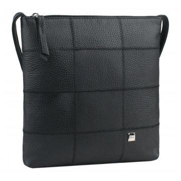 сумка женская через плечо кожаная (чёрная)