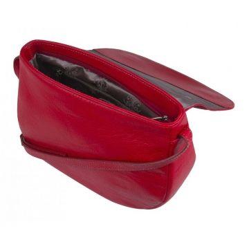 сумка женская кожаная через плечо (томат)