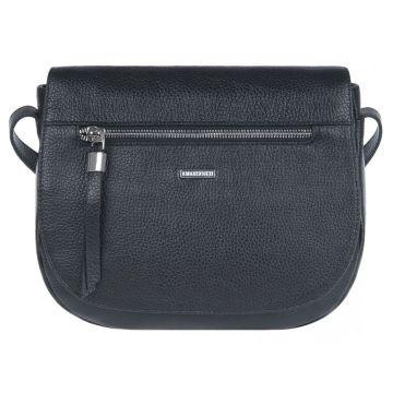 сумка женская через плечо из натуральной кожи (чёрная)