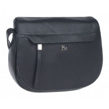 сумка женская через плечо с клапаном (чёрная)