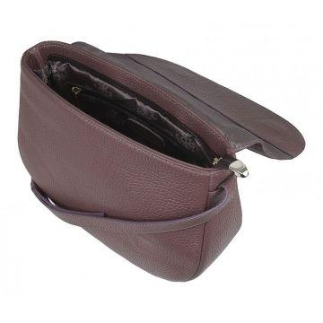 сумка женская через плечо с клапаном (какао)