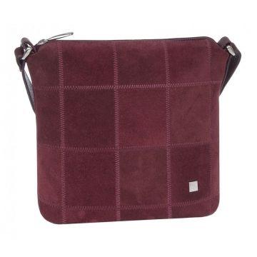 сумка женская из натуральной замши (вишневая)