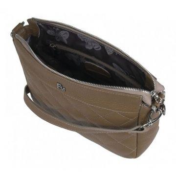 сумка женская кожаная через плечо (трюфель)