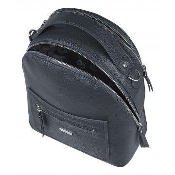 рюкзак женский из натуральной кожи (тёмно-серый)