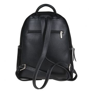 рюкзак женский замшевый (чёрный)