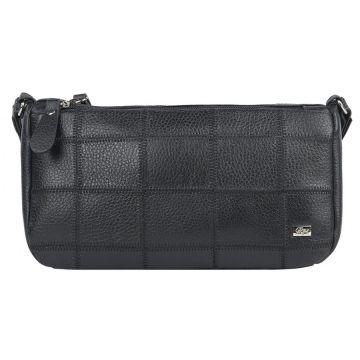 маленькая кожаная сумка через плечо (черная)