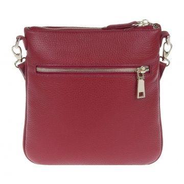 сумка-планшет женская из натуральной кожи (красная)