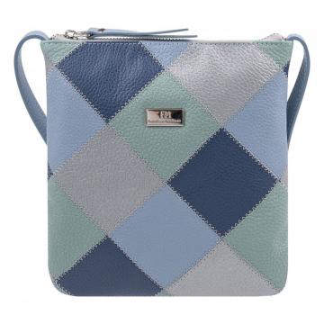 Светлая женская сумка на лето из натуральной кожи