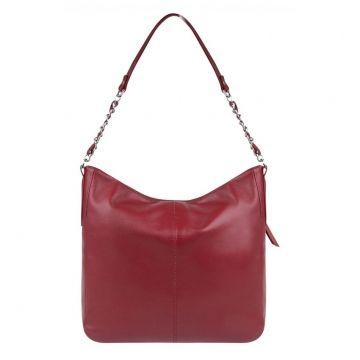 сумка женская из натуральной кожи (красная)
