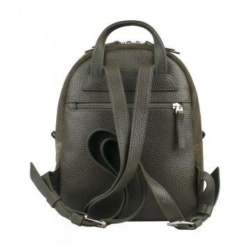 рюкзак женский замшевый (хаки)