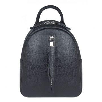 рюкзак женский миниатюрный кожаный (чёрный)