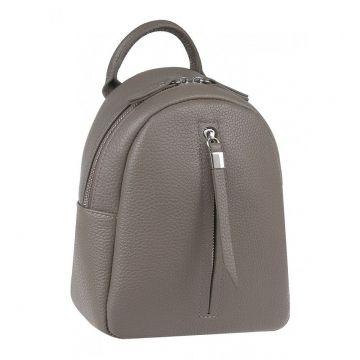 рюкзак женский миниатюрный кожаный (капучино)