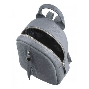 рюкзак женский миниатюрный кожаный (серый)
