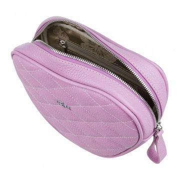 сумка поясная женская из натуральной кожи (лавандовая)