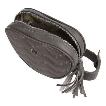 сумка поясная женская из натуральной кожи (капучино)