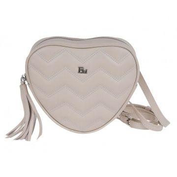 сумка поясная женская из натуральной кожи (слоновая кость)