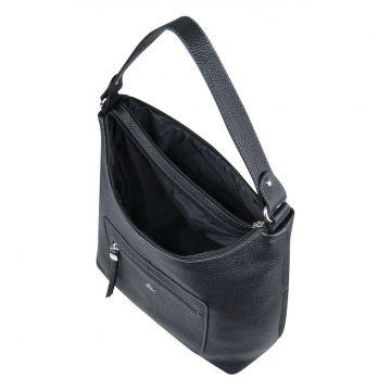сумка женская из натуральной кожи чёрная)