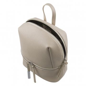 Женский рюкзак светлый кожаный