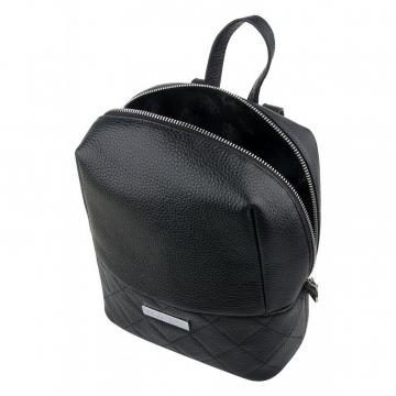 рюкзак женский из натуральной кожи (чёрный)