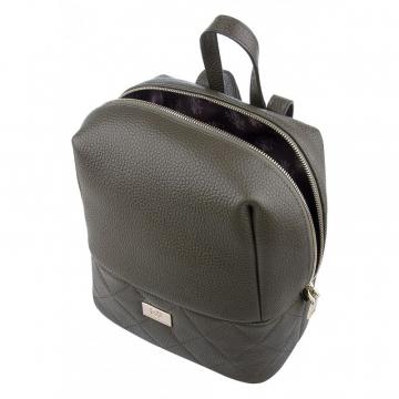 рюкзак женский из натуральной кожи (хаки)