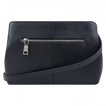 Женская сумка замшевая из натуральной кожи чёрная