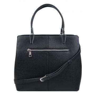 Женская черная сумка замшевая на двух ручках