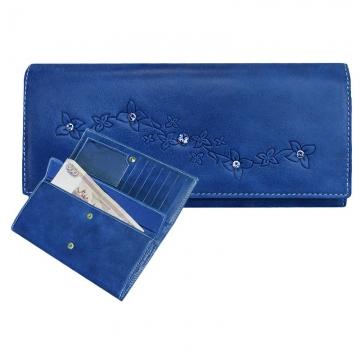Женский кошелек с кристаллами SWAROVSKI Мэри (ярко синий)