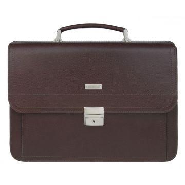 мужской деловой портфель кожаный (коричневый)