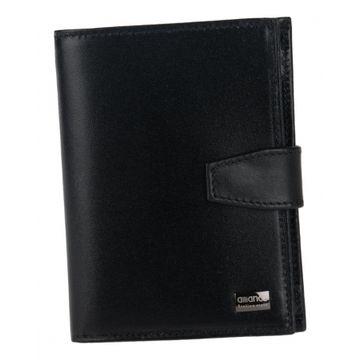 мужской кожаный кошелек (черный) 0-225В