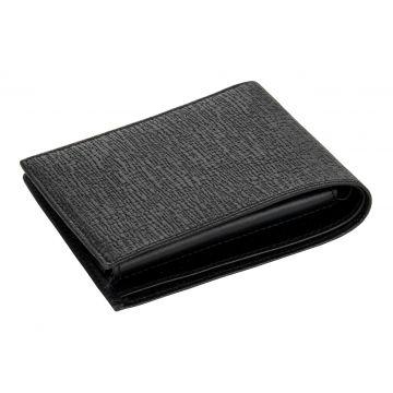 """мужской кожаный кошелек (черный) 0-16В галант """"Кора"""""""