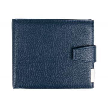 мужское портмоне из натуральной кожи (синее)