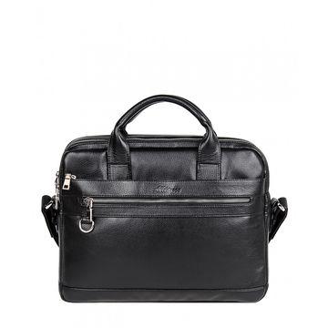 мужская деловая сумка-портфель (черная)