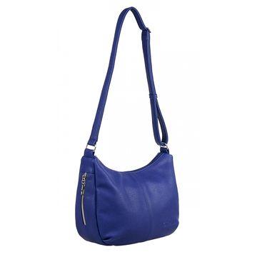 сумка женская из искусственной кожи (синяя)