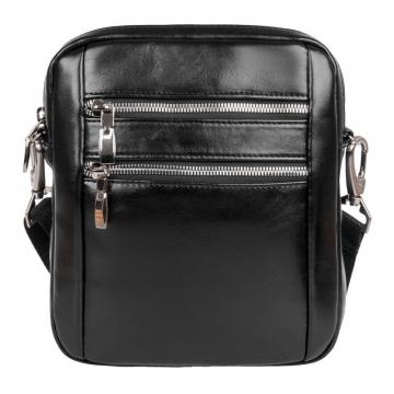 мужская сумка через плечо (черная)
