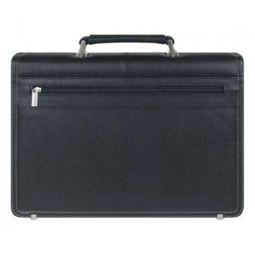 портфель мужской из натуральной кожи (чёрный) 2-247кFM1