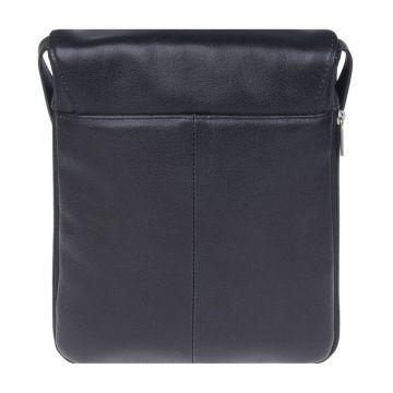 мужская сумка-планшет из натуральной кожи (чёрный)